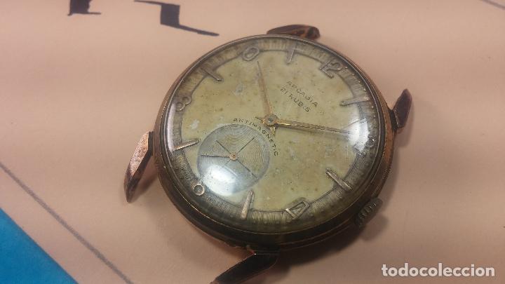 Relojes de pulsera: Muy antiguo reloj de cuerda ARCADIA, grande, para reparar o piezas, muy botito - Foto 27 - 117393943