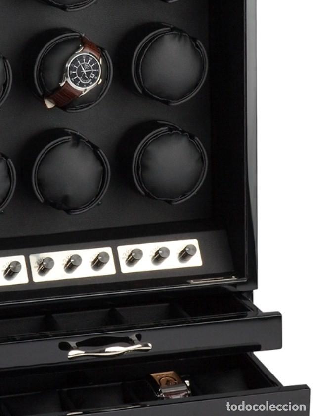Relojes de pulsera: 2 VITRINAS WATCHS-WINDER MADERA RAÍZ, LUJO.....9 RELOJES. CAJONES, CIERRES, LLAVES. - Foto 27 - 50454816