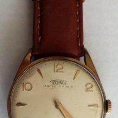 Relojes de pulsera: RELOJ DE PULSERA TECHNOS 15 RUBIS, FUNCIONA. Lote 118643663