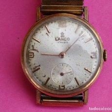 Relojes de pulsera: RELOJ LANCO MECANICO DE CUERDA PULSERA PARA CABALLERO FUNCIONA. Lote 118709563