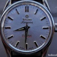Relojes de pulsera: TITONI RELOJ SUIZO CUERDA AÑOS 70 DIAMETRO 33 MM. FUNCIONA. Lote 119033195