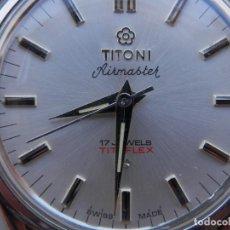 Relojes de pulsera: TITONI RELOJ SUIZO CUERDA AÑOS 70 DIAMETRO 33 MM. FUNCIONA PERFECTAMENTE. Lote 217776918