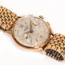 Relojes de pulsera: RELOJ DE PULSERA, ORO 18K, DE ORIGEN SUIZO DEL FABRICANTE LEUBA LOUIS,CRONOGRAFO DE CUERDA MANUAL. Lote 119255239