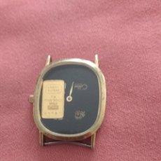 Relógios de pulso: PRECIOSO RELOJ CON LINGOTE DE ORO 24 KILATE. Lote 205342027