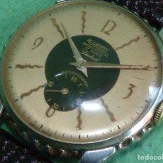 Wristwatches: ESCASO RELOJ ALLENBY FIREBIRD MOVIMIENTO EB 1119 17 RUBIS BELLO DUO TONO SWISS MADE ART DECO AÑOS 40. Lote 146590080
