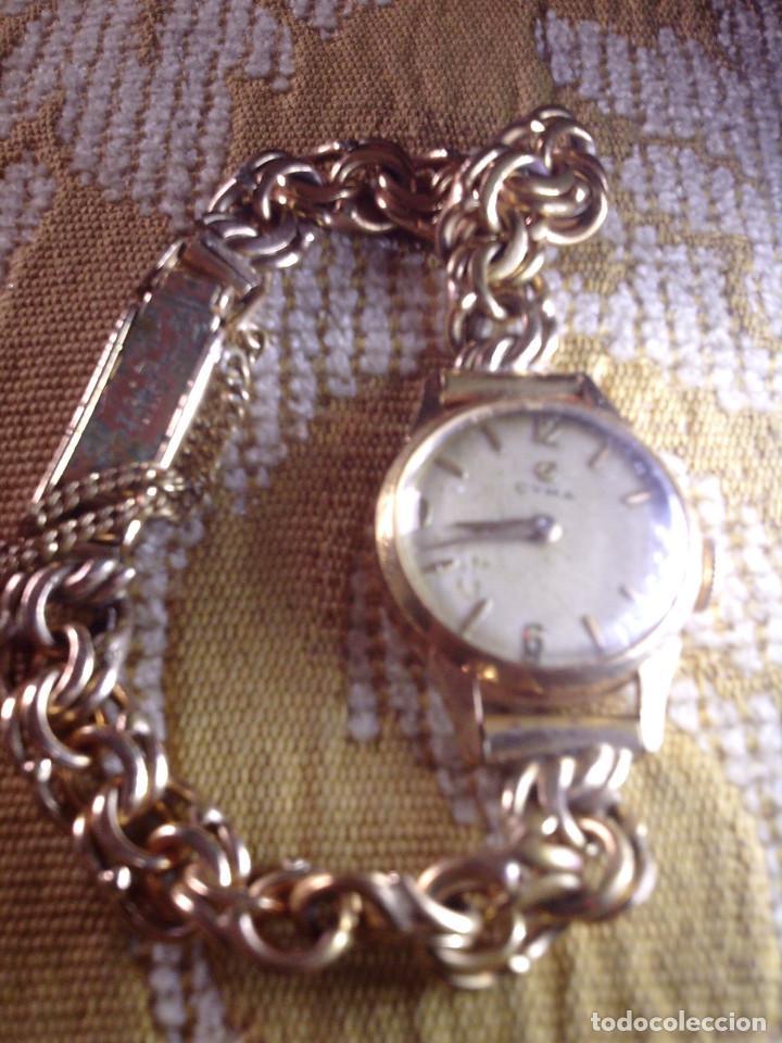 ~~~~ ANTIGUO RELOJ CYMA SEÑORA DE ORO 18K, CARGA MANUAL, NECESITA LIMPIEZA Y REVISION ~~~~ (Relojes - Pulsera Carga Manual)