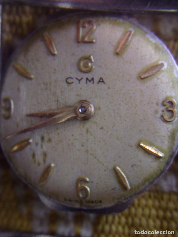 Relojes de pulsera: ~~~~ ANTIGUO RELOJ CYMA SEÑORA DE ORO 18K, CARGA MANUAL, NECESITA LIMPIEZA Y REVISION ~~~~ - Foto 9 - 119586071