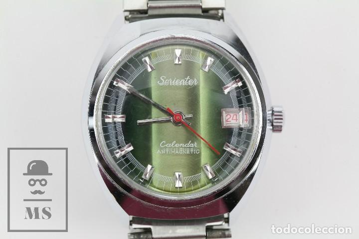 RELOJ DE PULSERA PARA HOMBRE - SORIENTER - CALENDAR / CALENDARIO / ANTIMAGNETIC - ESFERA VERDE (Relojes - Pulsera Carga Manual)