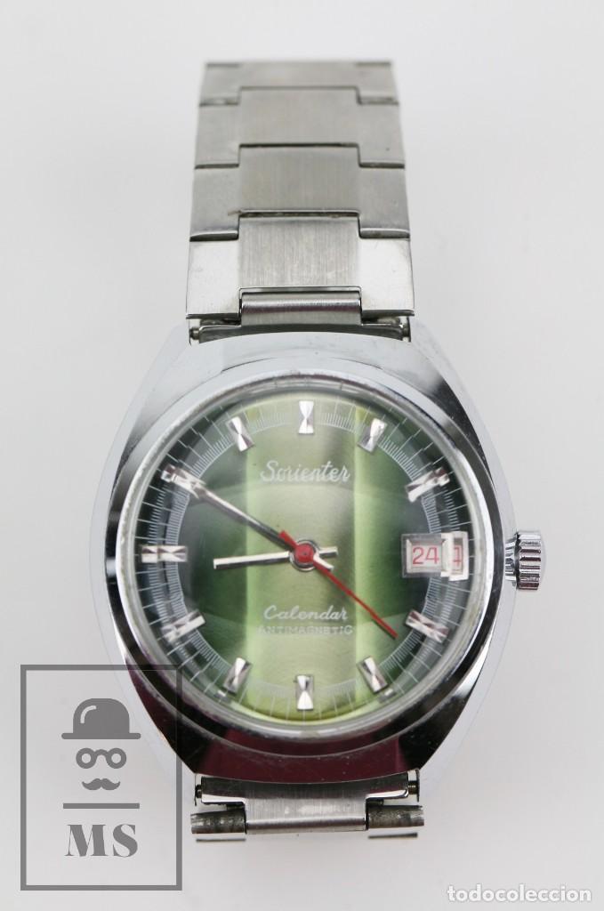 Relojes de pulsera: Reloj de Pulsera para Hombre - Sorienter - Calendar / Calendario / Antimagnetic - Esfera Verde - Foto 2 - 119942555