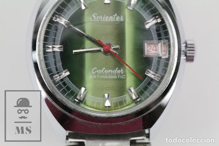Relojes de pulsera: Reloj de Pulsera para Hombre - Sorienter - Calendar / Calendario / Antimagnetic - Esfera Verde - Foto 3 - 119942555