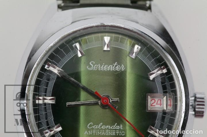 Relojes de pulsera: Reloj de Pulsera para Hombre - Sorienter - Calendar / Calendario / Antimagnetic - Esfera Verde - Foto 4 - 119942555