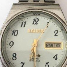 Relojes de pulsera: RELOJ AUTOMATICO RACER CRYSTAL 3 ESTRELLAS FUNCIONANDO. Lote 120022595