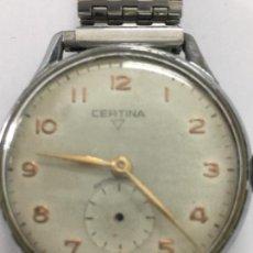 Relojes de pulsera: RELOJ CERTINA CARGA MANUAL EN ACERO Y CORREA DE ACERO EN FUNCIONAMIENTO. Lote 142779188