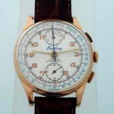 Relojes de pulsera: BREITLING CRONO ORO 18K VINTAGE C.1.938-40 ¡¡COMO NUEVO!!. Lote 107945207