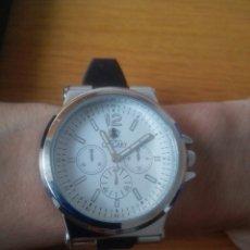 Relojes de pulsera: RELOJ CALGARY PULSERA HOMBRE CON CAJA . ESFERA GRAN TAMAÑO. ACERO. THE WORLD OF CALGARY.FUNCIONA.. Lote 120443844