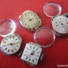 Relojes de pulsera: LOTE DE 4 MAQUINAS DE RELOJ DE SEÑORA DE DIFERENTES MARCAS. Lote 121101803