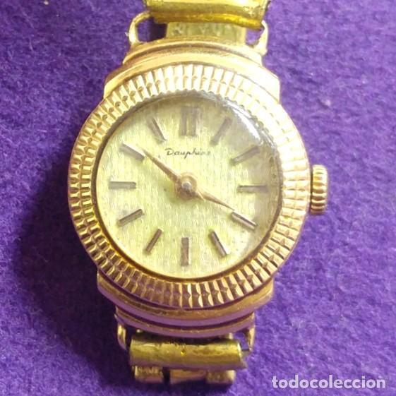 ANTIGUO RELOJ DE ORO 18 KILATES DE PULSERA DAUPHINE. AÑOS 30.EN FUNCIONAMIENTO.SEÑORA.CON CONTRASTE (Relojes - Pulsera Carga Manual)