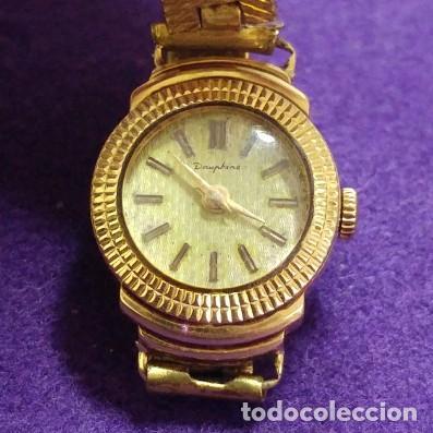 Relojes de pulsera: ANTIGUO RELOJ DE ORO 18 KILATES DE PULSERA DAUPHINE. AÑOS 30.EN FUNCIONAMIENTO.SEÑORA.CON CONTRASTE - Foto 2 - 230478150