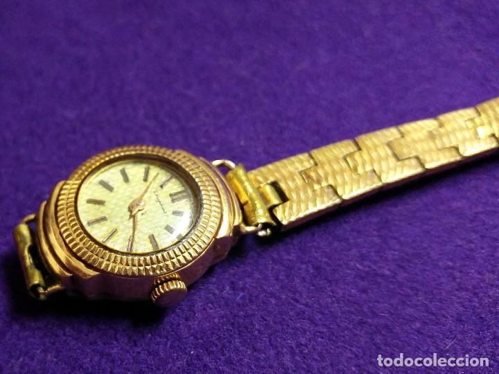 Relojes de pulsera: ANTIGUO RELOJ DE ORO 18 KILATES DE PULSERA DAUPHINE. AÑOS 30.EN FUNCIONAMIENTO.SEÑORA.CON CONTRASTE - Foto 3 - 230478150
