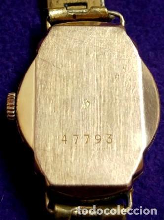 Relojes de pulsera: ANTIGUO RELOJ DE ORO 18 KILATES DE PULSERA DAUPHINE. AÑOS 30.EN FUNCIONAMIENTO.SEÑORA.CON CONTRASTE - Foto 4 - 230478150