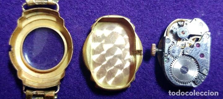 Relojes de pulsera: ANTIGUO RELOJ DE ORO 18 KILATES DE PULSERA DAUPHINE. AÑOS 30.EN FUNCIONAMIENTO.SEÑORA.CON CONTRASTE - Foto 6 - 230478150