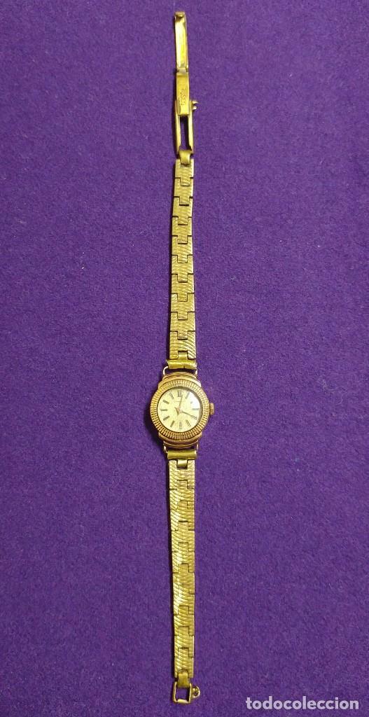Relojes de pulsera: ANTIGUO RELOJ DE ORO 18 KILATES DE PULSERA DAUPHINE. AÑOS 30.EN FUNCIONAMIENTO.SEÑORA.CON CONTRASTE - Foto 8 - 230478150