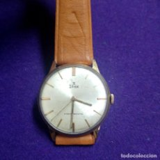Relojes de pulsera: ANTIGUO RELOJ DE PULSERA EDOX.PLAQUE DE ORO. 17 RUBIS.SWISS.CARGA MANUAL.EN FUNCIONAMIENTO.CABALLERO. Lote 121247095