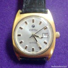 Relojes de pulsera: ANTIGUO RELOJ DE PULSERA ROAMER ANFIBIO. PLAQUE DE ORO. SWISS. EN FUNCIONAMIENTO.SEÑORA. Lote 121247923