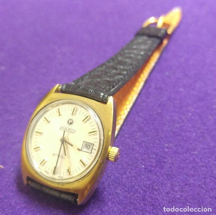 Relojes de pulsera: ANTIGUO RELOJ DE PULSERA ROAMER ANFIBIO. PLAQUE DE ORO. SWISS. EN FUNCIONAMIENTO.SEÑORA - Foto 2 - 121247923
