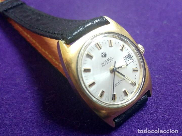Relojes de pulsera: ANTIGUO RELOJ DE PULSERA ROAMER ANFIBIO. PLAQUE DE ORO. SWISS. EN FUNCIONAMIENTO.SEÑORA - Foto 3 - 121247923