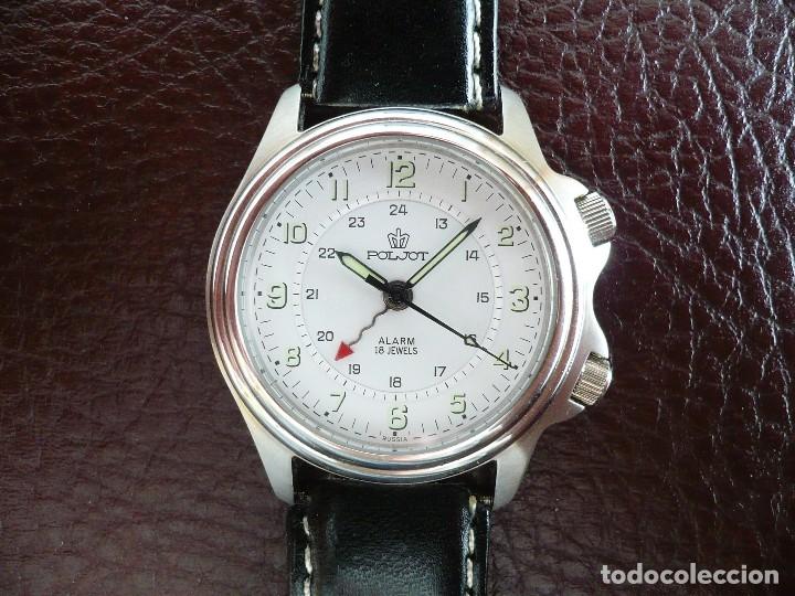 -ÚLTIMO- POLJOT RUSIA MECÁNICO CON ALARMA MECÁNICA - SERIE LIMITADA A 500 RELOJES. NEW OLD STOCK (Relojes - Pulsera Carga Manual)