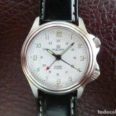 Relojes de pulsera: -ÚLTIMO- POLJOT RUSIA MECÁNICO CON ALARMA MECÁNICA - SERIE LIMITADA A 500 RELOJES. NEW OLD STOCK. Lote 86397628