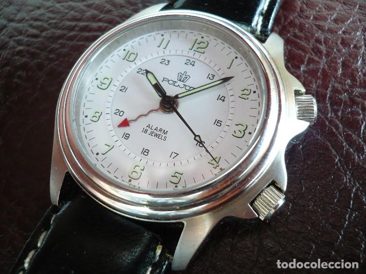 Relojes de pulsera: -ÚLTIMO- POLJOT RUSIA MECÁNICO CON ALARMA MECÁNICA - SERIE LIMITADA A 500 RELOJES. NEW OLD STOCK - Foto 2 - 86397628