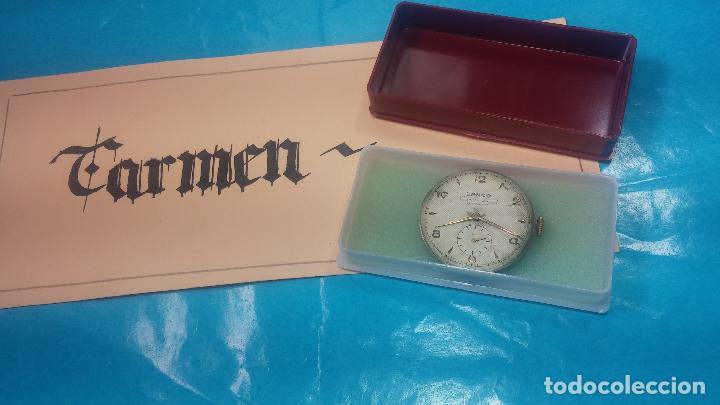 BOTITA MAQUINARIA DE RELOJ DE CABALLERO LANCO, FUNCIONA MUY BIEN, SOLO LE FALTA LA CAJA Y CRISTAL (Relojes - Pulsera Carga Manual)