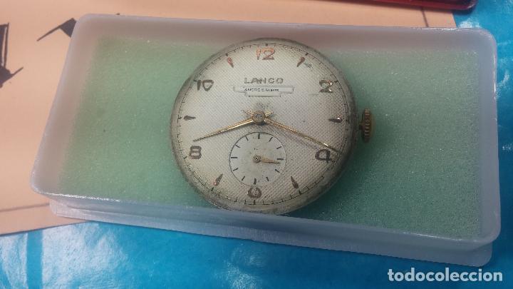 Relojes de pulsera: Botita Maquinaria de reloj de caballero LANCO, funciona muy bien, solo le falta la caja y cristal - Foto 2 - 121520455