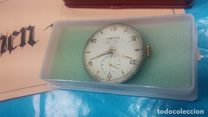 Relojes de pulsera: Botita Maquinaria de reloj de caballero LANCO, funciona muy bien, solo le falta la caja y cristal - Foto 3 - 121520455