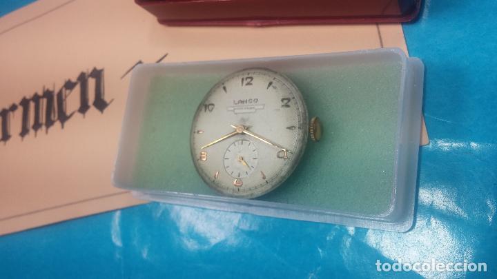 Relojes de pulsera: Botita Maquinaria de reloj de caballero LANCO, funciona muy bien, solo le falta la caja y cristal - Foto 4 - 121520455