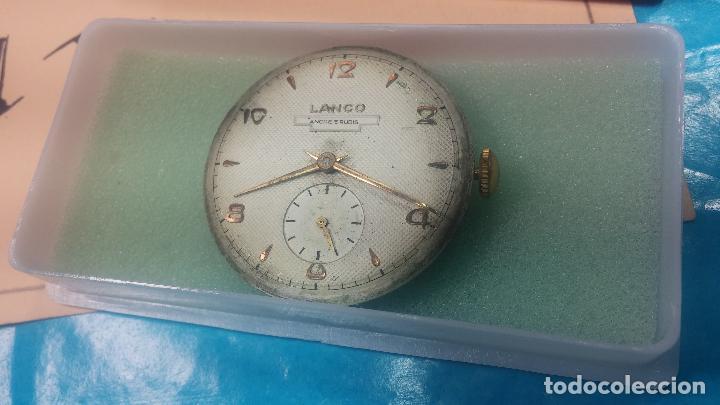 Relojes de pulsera: Botita Maquinaria de reloj de caballero LANCO, funciona muy bien, solo le falta la caja y cristal - Foto 5 - 121520455