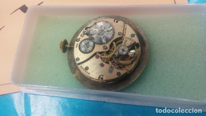 Relojes de pulsera: Botita Maquinaria de reloj de caballero LANCO, funciona muy bien, solo le falta la caja y cristal - Foto 7 - 121520455