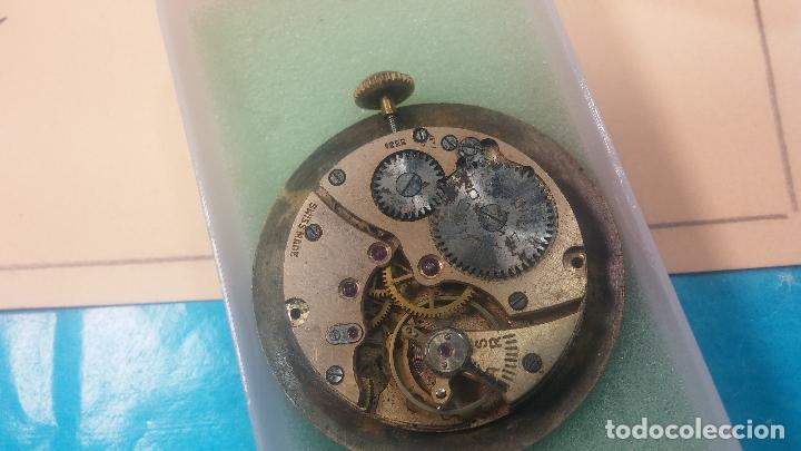 Relojes de pulsera: Botita Maquinaria de reloj de caballero LANCO, funciona muy bien, solo le falta la caja y cristal - Foto 8 - 121520455