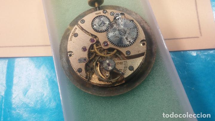 Relojes de pulsera: Botita Maquinaria de reloj de caballero LANCO, funciona muy bien, solo le falta la caja y cristal - Foto 9 - 121520455