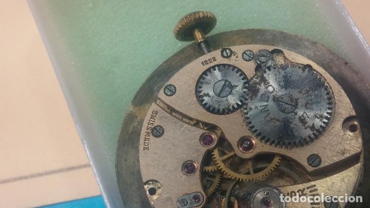 Relojes de pulsera: Botita Maquinaria de reloj de caballero LANCO, funciona muy bien, solo le falta la caja y cristal - Foto 11 - 121520455