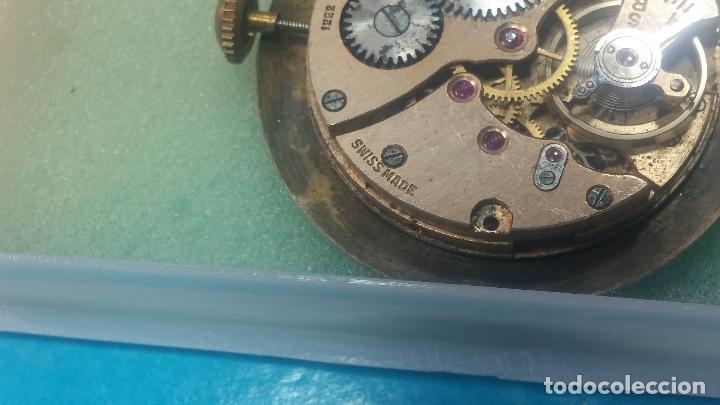 Relojes de pulsera: Botita Maquinaria de reloj de caballero LANCO, funciona muy bien, solo le falta la caja y cristal - Foto 12 - 121520455