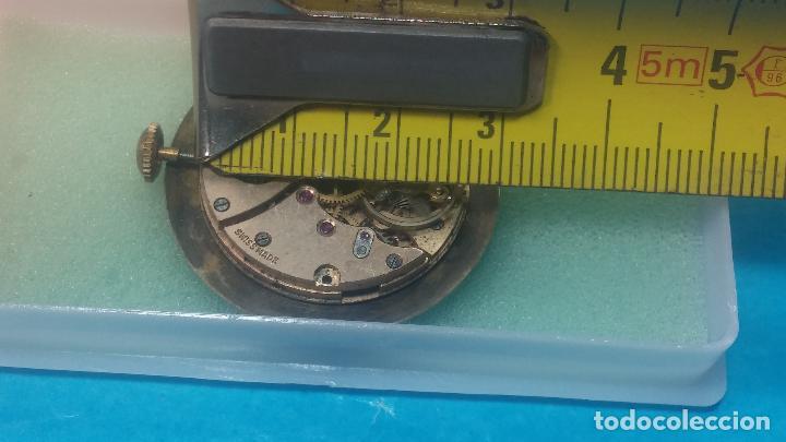 Relojes de pulsera: Botita Maquinaria de reloj de caballero LANCO, funciona muy bien, solo le falta la caja y cristal - Foto 15 - 121520455