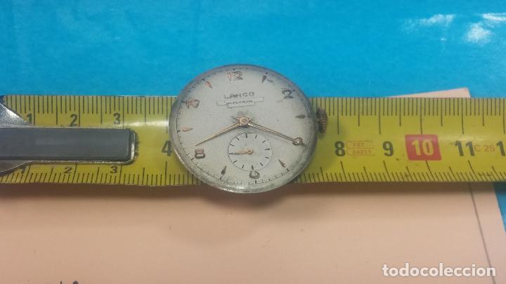 Relojes de pulsera: Botita Maquinaria de reloj de caballero LANCO, funciona muy bien, solo le falta la caja y cristal - Foto 17 - 121520455