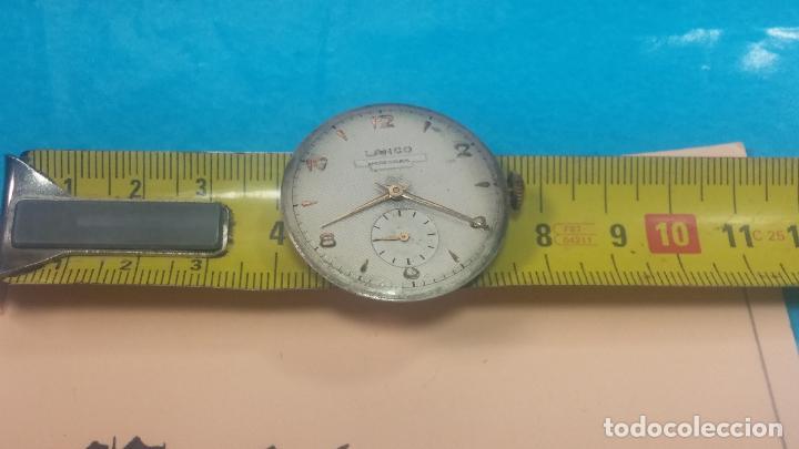 Relojes de pulsera: Botita Maquinaria de reloj de caballero LANCO, funciona muy bien, solo le falta la caja y cristal - Foto 18 - 121520455
