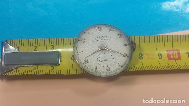 Relojes de pulsera: Botita Maquinaria de reloj de caballero LANCO, funciona muy bien, solo le falta la caja y cristal - Foto 19 - 121520455