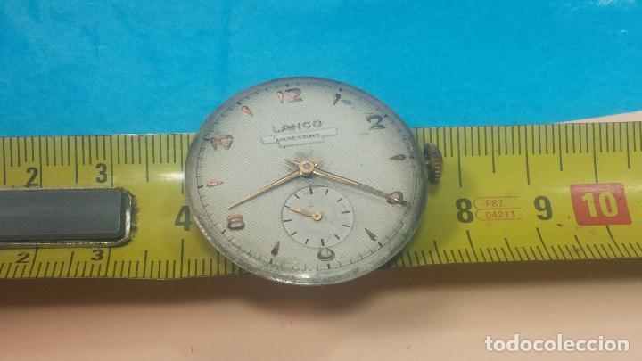 Relojes de pulsera: Botita Maquinaria de reloj de caballero LANCO, funciona muy bien, solo le falta la caja y cristal - Foto 20 - 121520455
