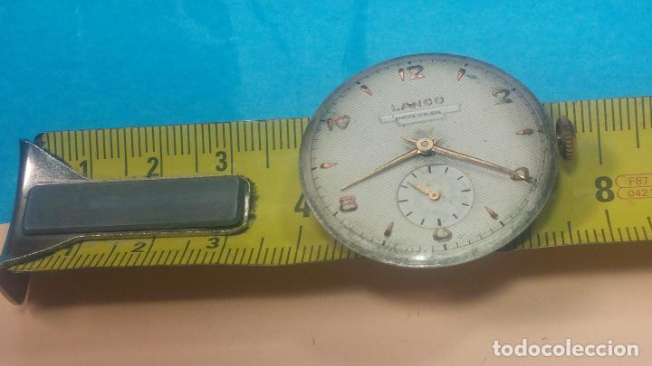 Relojes de pulsera: Botita Maquinaria de reloj de caballero LANCO, funciona muy bien, solo le falta la caja y cristal - Foto 21 - 121520455