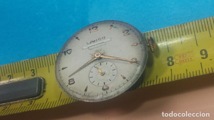 Relojes de pulsera: Botita Maquinaria de reloj de caballero LANCO, funciona muy bien, solo le falta la caja y cristal - Foto 22 - 121520455
